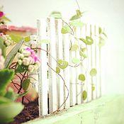 """Цветы и флористика ручной работы. Ярмарка Мастеров - ручная работа Минисадик """"Цветочный домик"""". Handmade."""