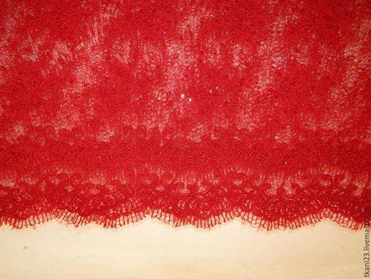 Шитье ручной работы. Ярмарка Мастеров - ручная работа. Купить гипюр на паутинке пайетки в тон ткани арт.17 СП-5(Корея). Handmade.