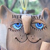 """Сувениры и подарки ручной работы. Ярмарка Мастеров - ручная работа Колокольчик """"Кот-поэт"""". Handmade."""