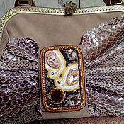 Сумки и аксессуары handmade. Livemaster - original item HAVASI (GHAWAZEE) Leather handbag with embroidery.. Handmade.