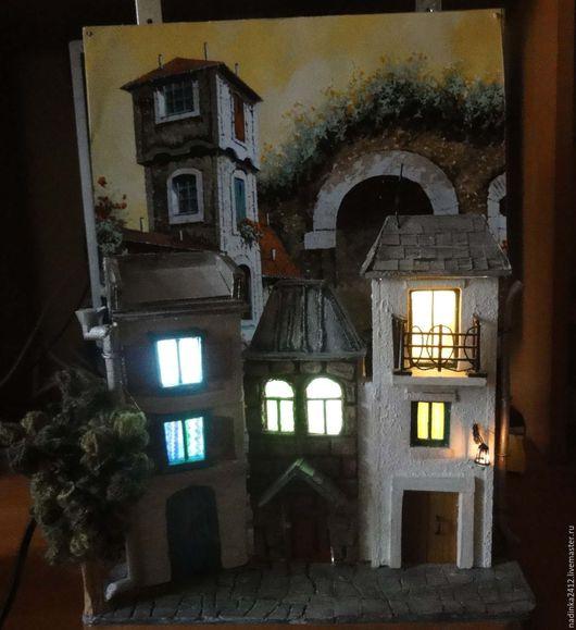 Миниатюрные модели ручной работы. Ярмарка Мастеров - ручная работа. Купить Домик светильник. Handmade. Домик светильник, для детей