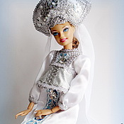 Куклы и игрушки ручной работы. Ярмарка Мастеров - ручная работа Костюм Снегурочка  для куклы. Хотите попасть в сказку?. Handmade.
