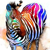 Картины и панно handmade. Livemaster - original item Zebra. Handmade.