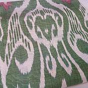Материалы для творчества ручной работы. Ярмарка Мастеров - ручная работа Узбекский цветной шелковый икат. Ткань ручного ткачества Адрас. Handmade.
