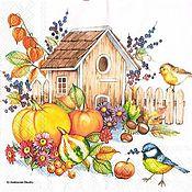 Осенний скворечник (13310945) - салфетка для декупажа