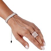Украшения handmade. Livemaster - original item Bracelet ring MUDRA VANILLA. Handmade.