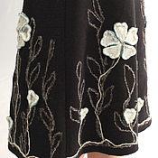 "Одежда handmade. Livemaster - original item Skirt knitted ""Winter flowers"". Handmade."