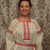 Одежда ручной работы. Ярмарка Мастеров - ручная работа рубаха ОБЕРЕЖНАЯ. Handmade.