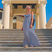 Одежда ручной работы. Ярмарка Мастеров - ручная работа Платье в морском стиле. Handmade.