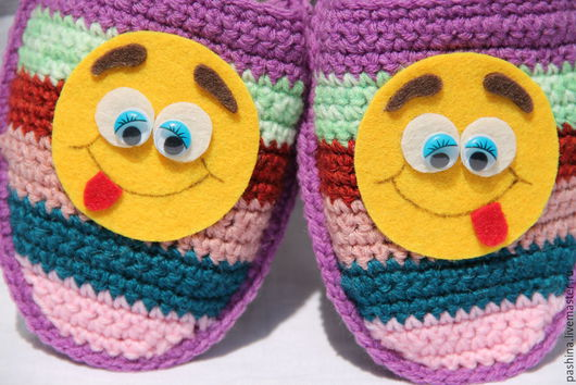 """Обувь ручной работы. Ярмарка Мастеров - ручная работа. Купить домашние тапочки """"Хорошее настроение"""". Handmade. Подарок мужчине мальчику"""