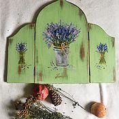 Для дома и интерьера ручной работы. Ярмарка Мастеров - ручная работа Зеркало тройное  с букетами лаванды. Handmade.