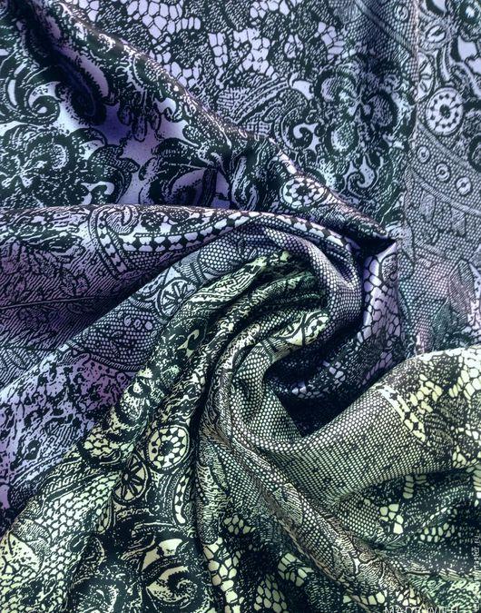 """Шитье ручной работы. Ярмарка Мастеров - ручная работа. Купить Натуральный шелк """"Цветочное кружево"""", 2 цвета. Handmade."""