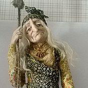 """Куклы и игрушки ручной работы. Ярмарка Мастеров - ручная работа Кукла """"Задумчивая ЯГА""""(см. видео в блоге ). Handmade."""