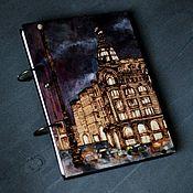 "Канцелярские товары handmade. Livemaster - original item Sketchpad A5 ""Zinger`s house"". Handmade."