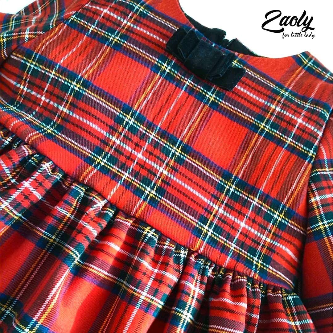 Платье для девочки Красная клетка