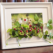 "Картины и панно handmade. Livemaster - original item 3D picture ""Happy berry"". Handmade."