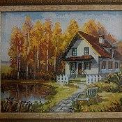 Картины и панно ручной работы. Ярмарка Мастеров - ручная работа В гости к осени. Handmade.