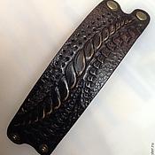 Украшения ручной работы. Ярмарка Мастеров - ручная работа браслет кожаный мужской. Handmade.