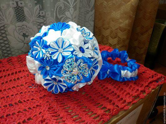 Свадебные цветы ручной работы. Ярмарка Мастеров - ручная работа. Купить Свадебный букет Морской. Handmade. Тёмно-синий, свадьба