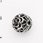 Материалы для творчества ручной работы. Ярмарка Мастеров - ручная работа Бусина серебряная арт. 793. Handmade.