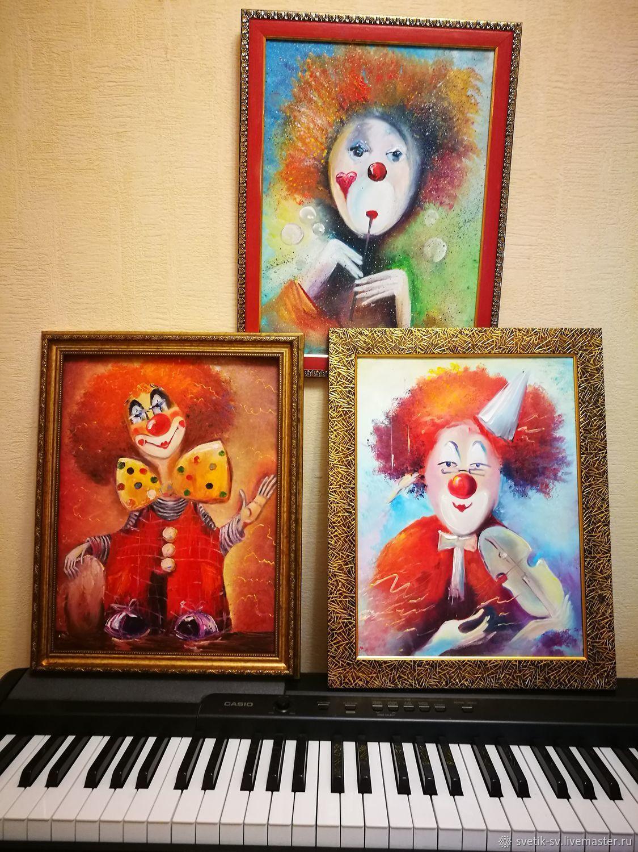 """Картина маслом """"Клоун"""", Картины, Люберцы, Фото №1"""
