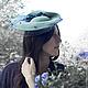 """Шляпы ручной работы. Шляпка"""" Иоанна"""". Марина Духан. Ярмарка Мастеров. Шляпа женская, велюровый фетр, бусины стеклянные"""
