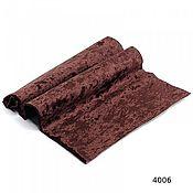Материалы для творчества ручной работы. Ярмарка Мастеров - ручная работа Плюш винтажный,тёмно-коричневый, 50х50см 100% п/э. Handmade.