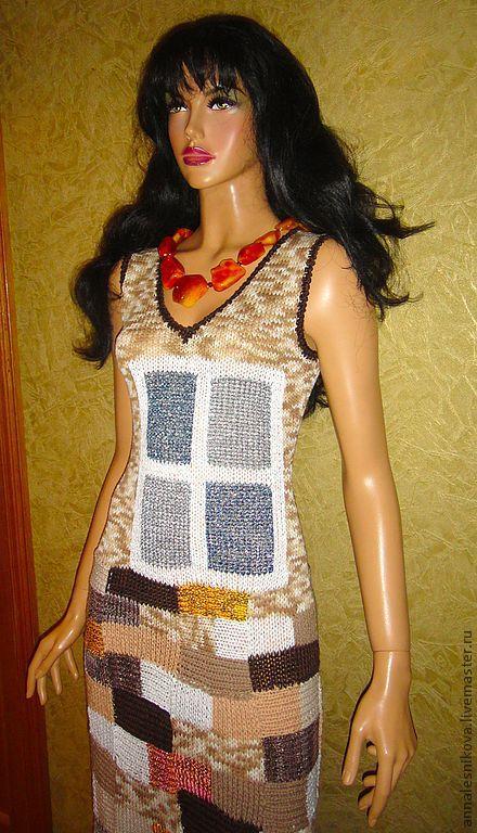 """Платья ручной работы. Ярмарка Мастеров - ручная работа. Купить Сарафан """"Кирпичики"""". Handmade. Платье, трикотажное платье, нарядный сарафан"""
