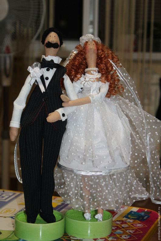 Подарки на свадьбу ручной работы. Ярмарка Мастеров - ручная работа. Купить Тильда жених и невеста. Handmade. Белый, фата невесты