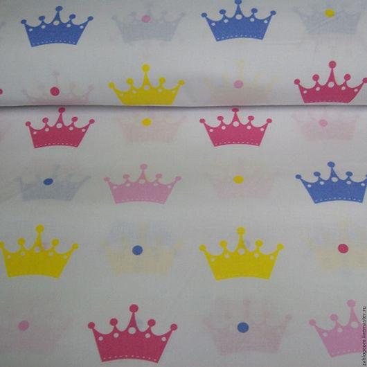 Шитье ручной работы. Ярмарка Мастеров - ручная работа. Купить Хлопок Короны (Польша). Handmade. Комбинированный, ткани, польский хлопок