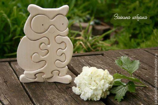 Развивающие игрушки ручной работы. Ярмарка Мастеров - ручная работа. Купить Сова-мама в натуральном цвете. Handmade. Деревянная игрушка