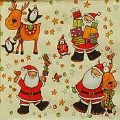 Материалы для творчества handmade. Livemaster - original item Napkins for decoupage New Year Christmas. Handmade.