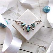 Necklace handmade. Livemaster - original item Necklace with Swarovski Navette crystals. Handmade.