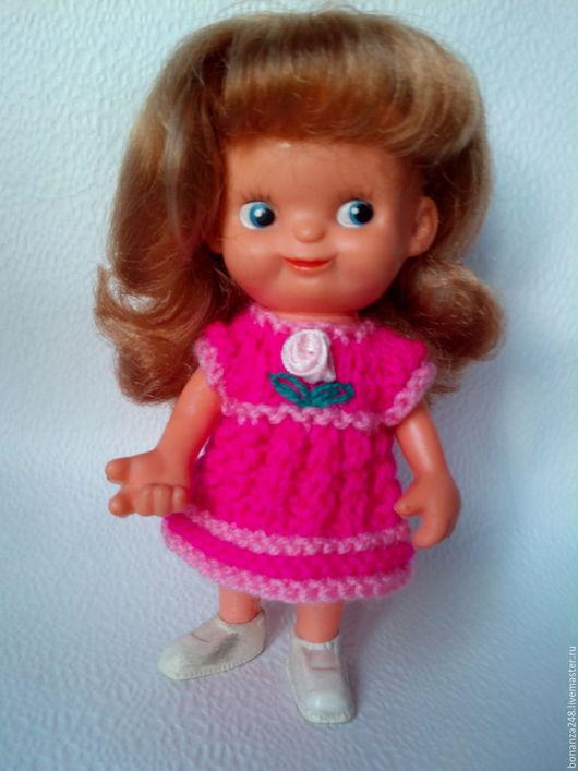 Одежда для кукол ручной работы. Ярмарка Мастеров - ручная работа. Купить платье вязаное для куклы гдр, ссср. Handmade. Кукла