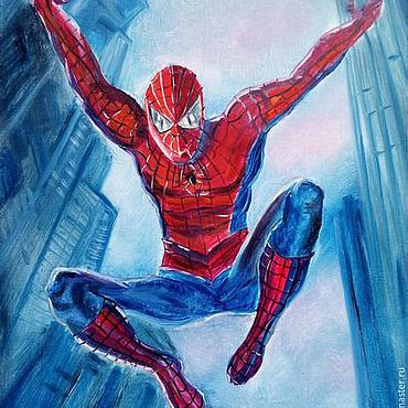 Картины и панно ручной работы. Ярмарка Мастеров - ручная работа Картина Человек-паук. Handmade.