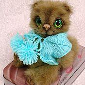 Куклы и игрушки ручной работы. Ярмарка Мастеров - ручная работа Тедди кот. Handmade.