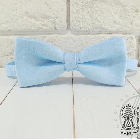 Галстуки, бабочки ручной работы. Ярмарка Мастеров - ручная работа. Купить Галстук бабочка Небесная / бабочка-галстук светло-голубая. Handmade.
