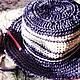 Вязание ручной работы. МК шляпка из рафии Полночь. Элеана (eleanaG). Ярмарка Мастеров. Мастер-класс по вязанию, шляпка