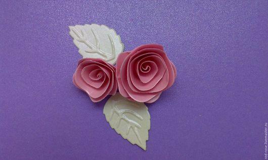 """Открытки и скрапбукинг ручной работы. Ярмарка Мастеров - ручная работа. Купить Вырубка для создания цветка """"Спиральная роза"""" из 4 элементов. Handmade."""