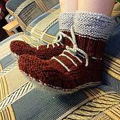 Обувь ручной работы. Ярмарка Мастеров - ручная работа Ботиночки-носочки для сына или дочки. Handmade.