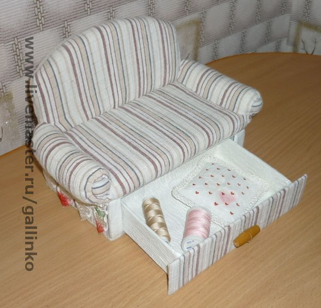 Как сделать куклам диван кровать