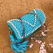 Сумка через плечо ручной работы. Ярмарка Мастеров - ручная работа Сумка через плечо: Голубой Батончик. Handmade.