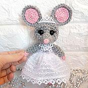 Мягкие игрушки ручной работы. Ярмарка Мастеров - ручная работа Мышка Снежинка. Handmade.
