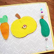 Куклы и игрушки ручной работы. Ярмарка Мастеров - ручная работа Яблочко и огурец. Handmade.