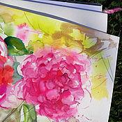 Картины и панно handmade. Livemaster - original item Mangenta of watercolor - painting on paper. Handmade.