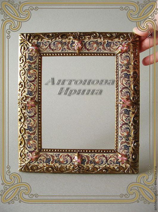 """Рамка для фото-""""Багетная"""",для дома ручной работы.Антонова Ирина.Ярмарка Мастеров."""