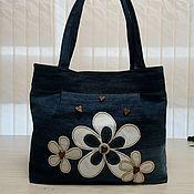 Классическая сумка ручной работы. Ярмарка Мастеров - ручная работа Сумка джинсовая. Handmade.