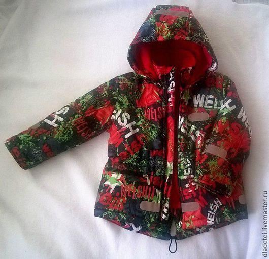 Одежда для мальчиков, ручной работы. Ярмарка Мастеров - ручная работа. Купить Курточка-парка  демисезонная. Handmade. Куртка детская, осень
