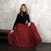 """Одежда ручной работы. Ярмарка Мастеров - ручная работа Шерстяная юбка в пол """"Шотландка"""". Handmade."""