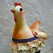 """Куклы и игрушки ручной работы. Ярмарка Мастеров - ручная работа Интерьерная кукла """"Курочка в синем"""". Handmade."""